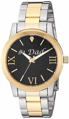 EWatchFactory Unisex Family DAD Analog-Quartz Watch with Stainless-Steel Strap