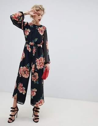 Asos DESIGN bold floral print jumpsuit