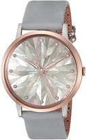 Fossil Women's Quartz Stainless Steel and Leather Casual Watch, Color:Grey (Model: ES4106)