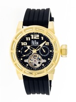 Reign Rothschild Collection Men's Automatic Silicone and Stainless Steel Watch