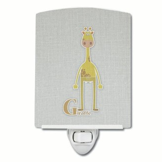 Caroline's Treasures Alphabet G for Giraffe Ceramic Night Light