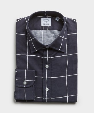 Hamilton Made in the USA + Todd Snyder Windowpane Shirt in Navy
