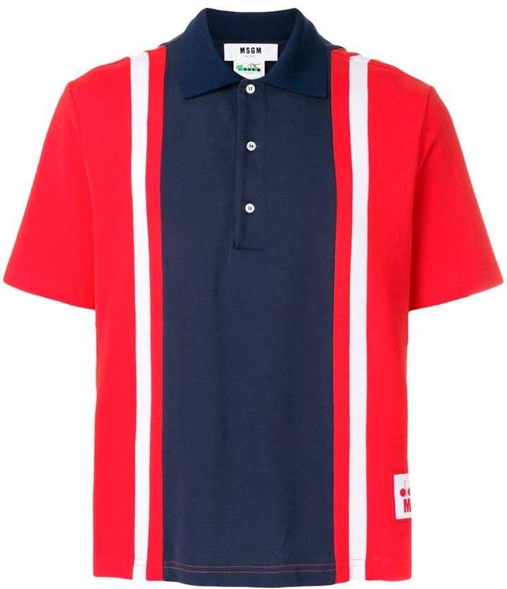 MSGM striped polo shirt