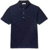 Alex Mill Striped Slub Cotton-Jersey Polo Shirt