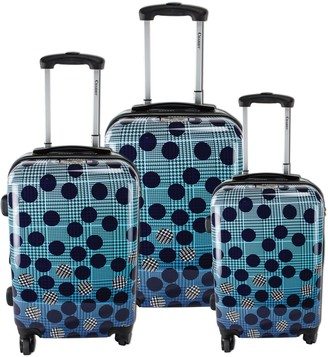 Chariot Travelware Chariot Ombre Dot 3-Piece Luggage Set