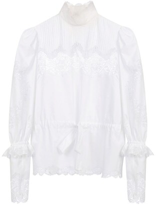 Dolce & Gabbana High-Neck Lace Blouse