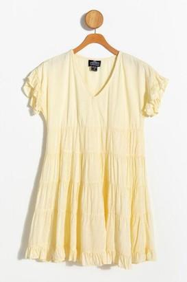 francesca's Misha Ruffle Swiss Dot Dress - Ivory
