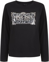 New Look Tres Bien Slogan Leopard Print Sweatshirt