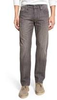Mavi Jeans 'Zach' Straight Leg Selvedge Jeans (Coffee Brown White Edge)