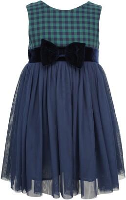 Popatu Check Sleeveless Tulle Dress