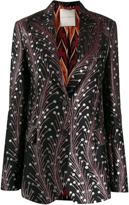 Marco De Vincenzo Embroidered Fitted Blazer