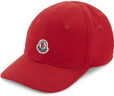 Moncler Logo Patch Cotton Baseball Cap 8-16 Years