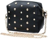 ABC Women Fashion Leather Messenger Bag Rivet Shoulder Bag With Chain