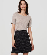 LOFT Tweed Flippy Skirt