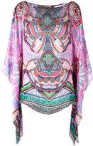 Roberto Cavalli abstract print blouse