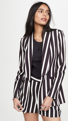 Alice + Olivia Skye Strong Shoulder Boxy Boyfriend Blazer