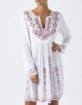 Monsoon Axa Embroidered Long Sleeve Dress