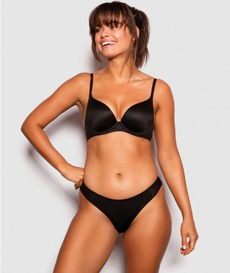 Bras N Things Body Bliss 2nd Gen Plunge Double Push Up - Black