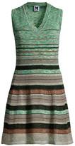 M Missoni Striped Crochet Glitter-Knit Sleeveless Dress