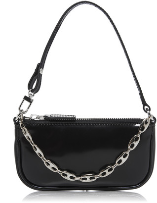 BY FAR Rachel Mini Patent Leather Shoulder Bag