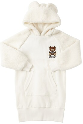 Moschino Cotton Sweat Dress W/ Terrycloth Sleeves