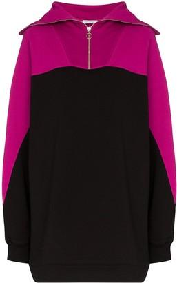Ninety Percent Oversized Zipped Sweatshirt