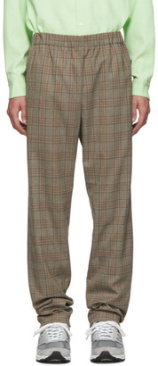 Tibi SSENSE Exclusive Brown Check James Pull On Trousers