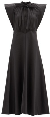 Lee Mathews Maleo Cotton-blend Poplin Maxi Dress - Black