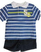 Carter's Baby Boys White Polo Shirt Denim 2 Pc Shorts Set 12M