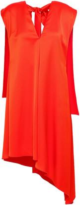 MSGM Cape-effect Satin-crepe Mini Dress