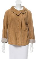 Brunello Cucinelli Suede Leather Jacket