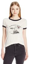 Obey Junior's Riot Girl Graphic Ringer Tee