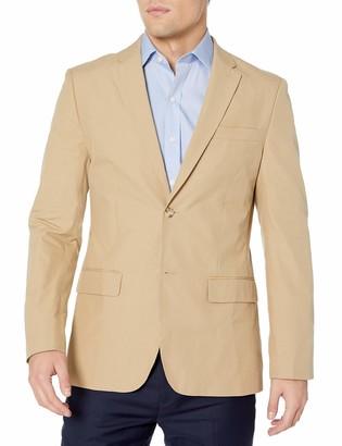 Perry Ellis Men's Slim Fit Travel Luxe Cotton Jacket
