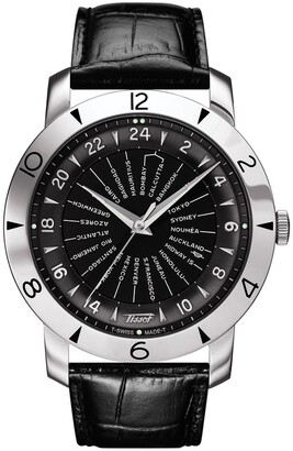 Tissot Men's Heritage Navigator Automatic 160th Anniversary Cosc Swiss Leather Strap Watch, 43mm