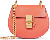 Chloé Drew Mini Textured-leather Shoulder Bag - Tomato red