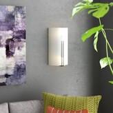 Wade Logan Chadwin 2-Light Tall Wall Flush Mount Bulb Type: Integrated LED, Size: 3.75 L x 7.25 W x 12.5 H
