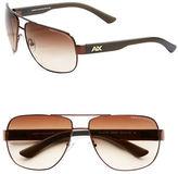 Armani Exchange 63.5mm Modern Aviator Sunglasses