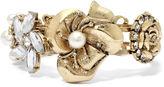 Bold Elements Blingy Floral Hinged Bracelet