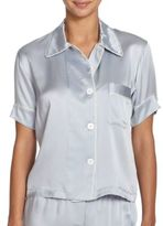 Araks Shelby Silk Short-Sleeve Pajama Top