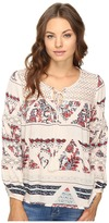Brigitte Bailey Gizela Long Sleeve Printed Top with Lace