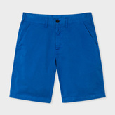 Paul Smith Men's Washed Blue Garment-Dyed Stretch Pima-Cotton Shorts