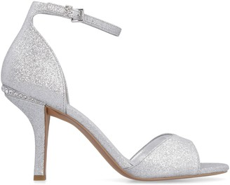 MICHAEL Michael Kors Malinda Glittered Ankle-strap Sandals