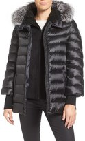 1 Madison 'Systems' Genuine Fox Fur Trim Hooded 3-in-1 Down Jacket