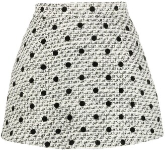 Valentino Tweed Polka Dot Short Shorts