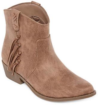 Arizona Womens Mocha Booties Block Heel