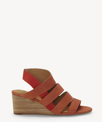 Corso Como CC Women's Ontariss Wedges Sandals Hot Sauce Size 5 Leather From Sole Society