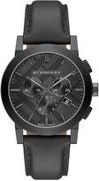 Burberry Men's Swiss Chronograph Dark Gray Leather Strap Watch 42mm BU9364