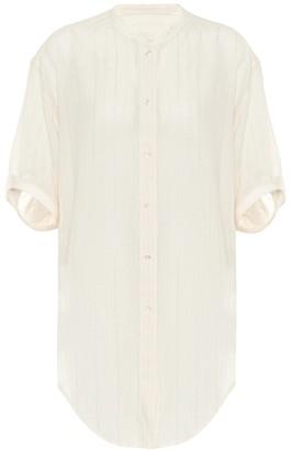 Saint Laurent Metallic wool-blend shirt