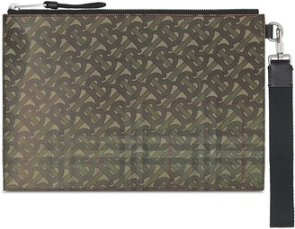 Burberry Monogram Zipped Clutch
