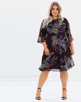 Evans Printed Mesh Skater Dress
